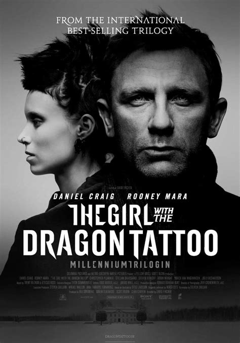 is the girl with the dragon tattoo in english the with the review from the mind