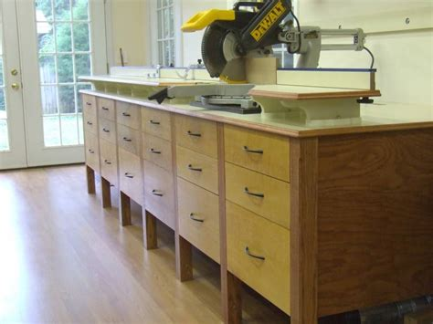Miter Saw Cabinet by Furniture For The Workshop Finished Miter Saw Cabinet
