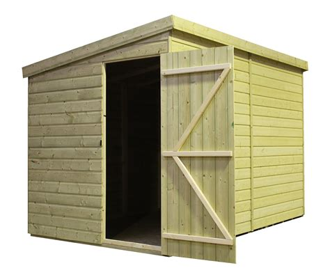 Shed With Side Door by 12 X 8 Windowless Pressure Treated Tongue And Groove Pent