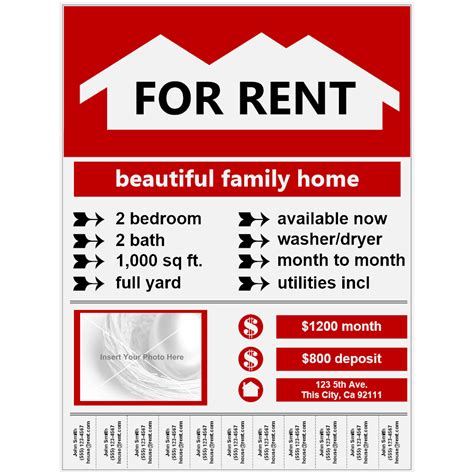for rent flyers templates flyer exle for rent