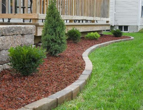 lava rocks for garden lava rock with brick edging curb appeal