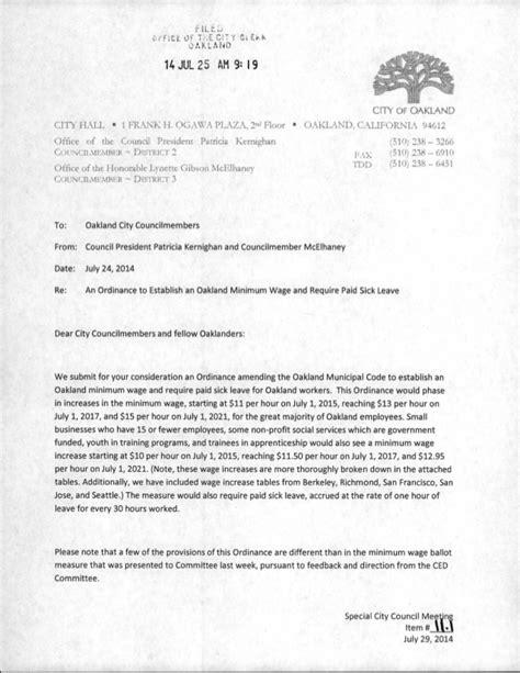 Resignation Letter Minimum Wage Kernighan And Mcelhaney Memo On Minimum Wage