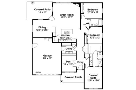 Country Style House Plan   3 Beds 2.00 Baths 2009 Sq/Ft