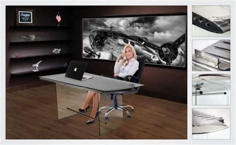 used aviator wing desk for sale sell modern aviator office wing desk airplane aluminum