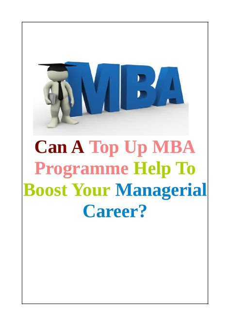 Bpp Mba Top Up by Can A Top Up Mba Programme Help To Boost Your Managerial