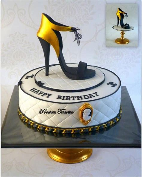 Happy 50th Birthday Chanel Shoes 1000 ideas about shoe cakes on purse cakes