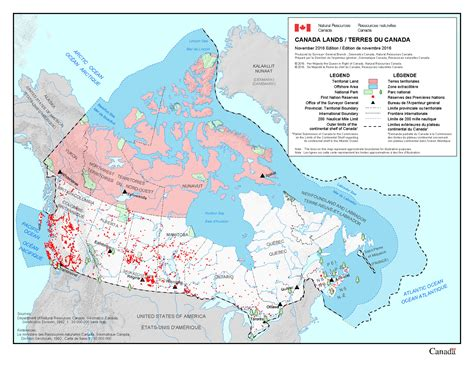 canadian map of nations about canada lands resources canada