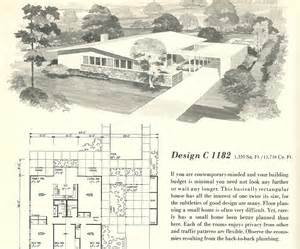 1950s House Floor Plans Vintage House Plans 1182 Antique Alter Ego