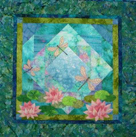 Dragonfly Patterns For Quilting by New Pattern To Make Dragonfly Water Pieced Applique 37xx37 Wall Quilt Dragonflies