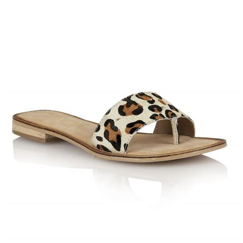 leopard flat sandals buy ravel cusseta flat sandals in leopard