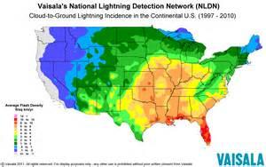 us lightning forecast map distribution of lightning
