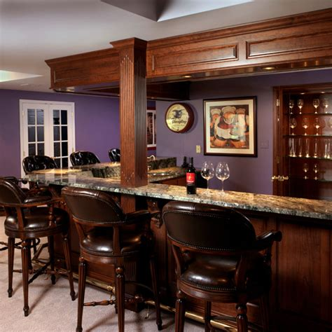 Kitchen Layout Designs finished basement bar and home office traditional
