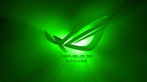 asus wallpaper green asus rog green wallpaper 1374793