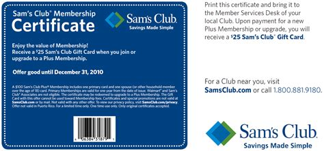 Can A Sam S Gift Card Be Used At Walmart - buy a sam s club premium membership get a 25 gift card free saving dollars sense