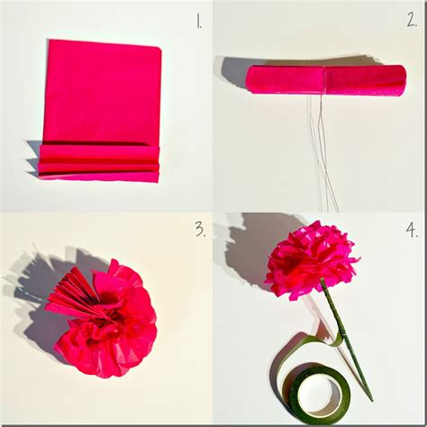 How To Make A Flower Using Tissue Paper - paper flowers for the botanically challenged it all