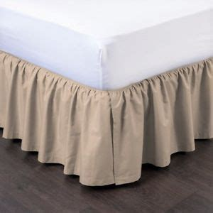 taupe bed skirt 1 taupe solid dressing bed skirt pleated with open corners