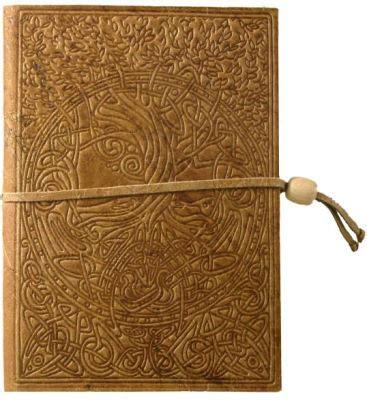 celtic design leather journal embossed brown celtic tree design italian leather journal