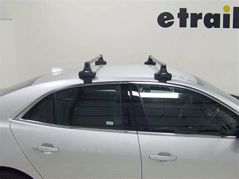 chevy malibu roof rack thule roof rack for chevrolet malibu 2014 etrailer com