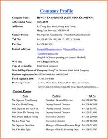4 how to write a company profile sle company letterhead