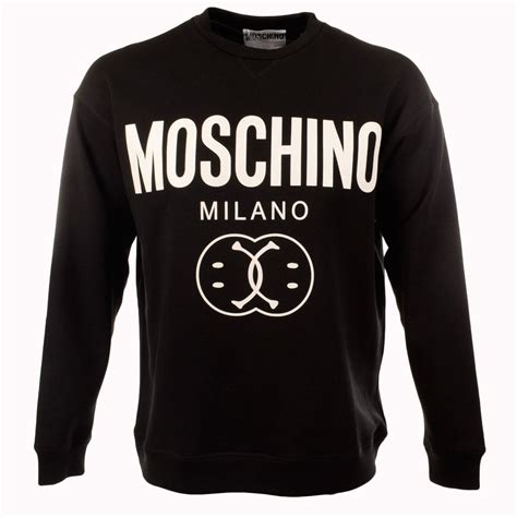 Moschino Sweatshirt moschino moschino black smiley crew neck sweatshirt