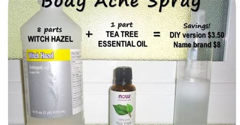diy acne spray combine 8 parts witch hazel with 1