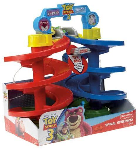 fisher price disneypixar toy story  big spiral speedway vehicle playset toys