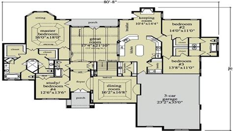 Ranch Style House Floor Plans Single Story House Plans Luxury