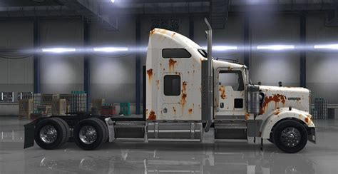 kenworth truck interior kenworth w900 rusted skin matching interior pack mod