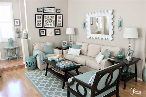 Turquoise Living Room Decor by Gray And Turquoise Living Room Decorating Ideas