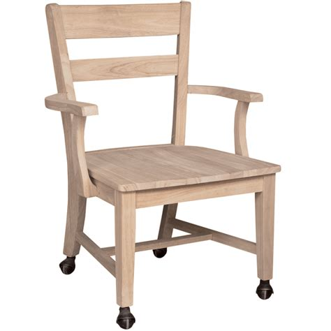 Dining Chairs With Wheels Mission Dining Side Chair With Casters
