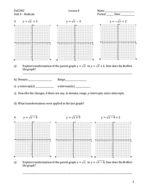 Transformations Of Parent Functions Worksheet by Printables Transformations Of Quadratic Functions