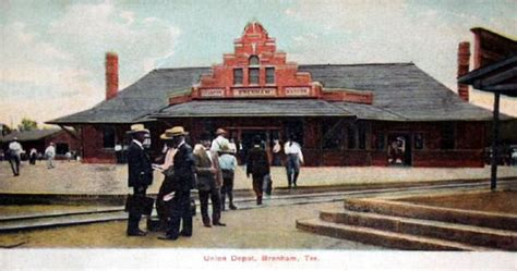 union depot brenham early 1900s photo