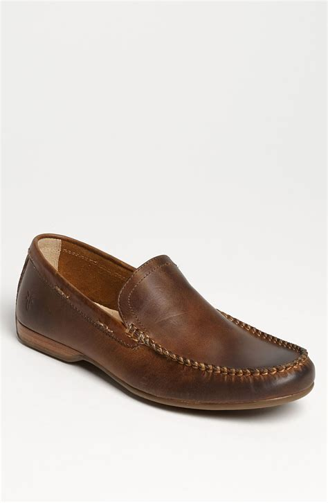 lewis loafers frye lewis venetian loafer in brown for lyst
