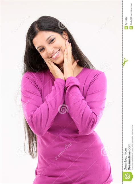 beautiful lady beautiful lady in pink dress with nice actions stock photo