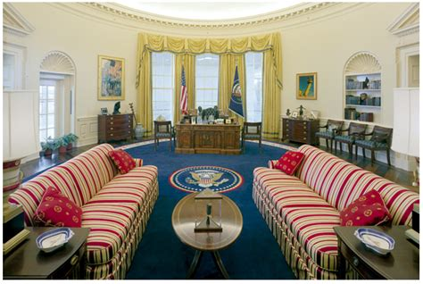 bill clinton oval office decor the oval office gets a makeover