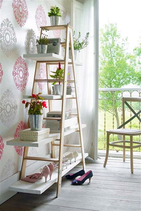 Home Decor Flowers diy ladder shelf ideas easy ways to reuse an old ladder