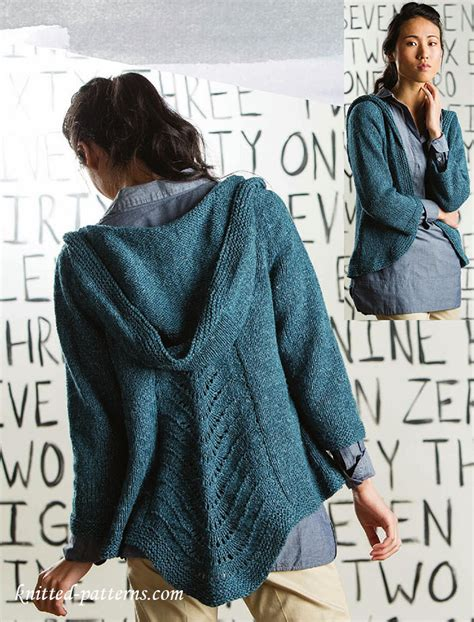 pattern hooded cardigan craft passions hooded cardigan free knitting link here
