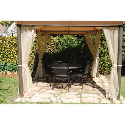 10 x 10 southern patio gazebo gaz 434769 replacement canopy and netting garden winds