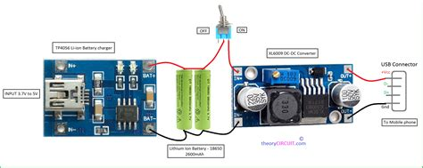 wiring diagram for power bank and light and switch 50