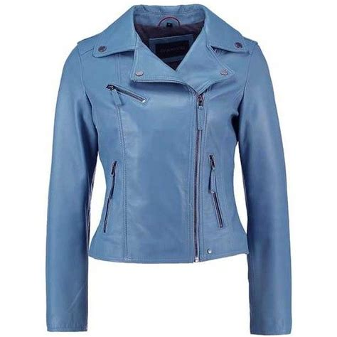 light blue leather 1000 ideas about blue leather jackets on
