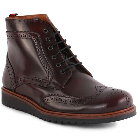 hilfiger mens boots hilfiger boston 3a mens ankle boots in burgundy