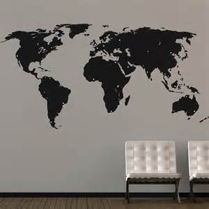 world map stickers for walls world map wall stickers by the binary box