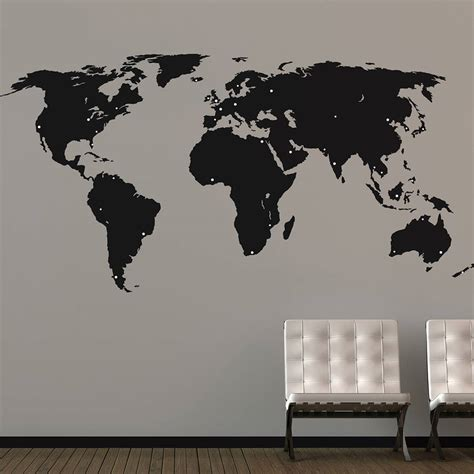 map wall decal world map wall stickers by the binary box
