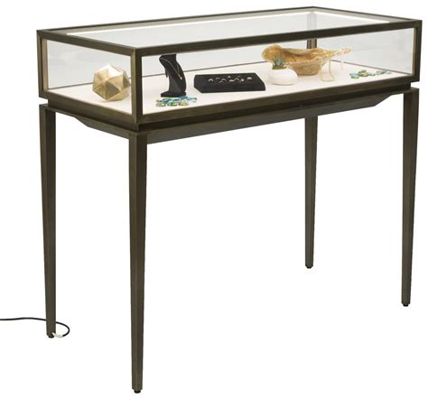 table top glass jewelry display cases modern jewelry display table tapered legs