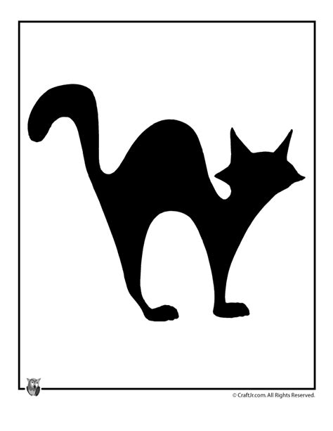 printable cats targets printable halloween templates black cat halloween template