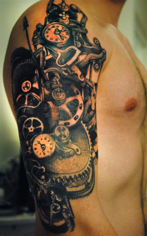 clockwork tattoo my own clockwork and gears by maud from tin tin