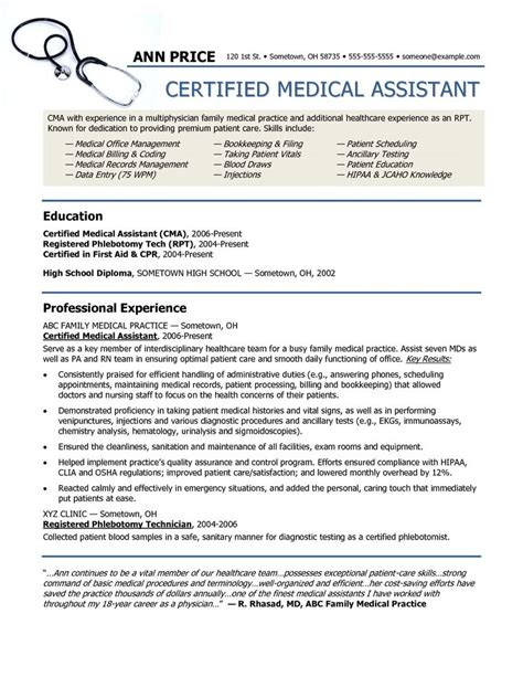 healthcare resume tips resume exles exle of assistant resume