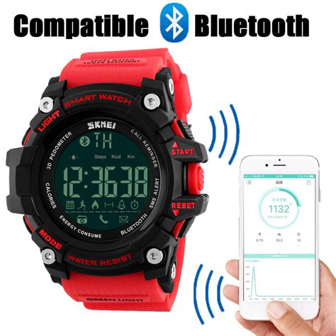 Smart Skmei 1226 Bluetooth Pedometer Water Resist 50m Blue 1 buy wholesale clock photography from china clock photography wholesalers aliexpress