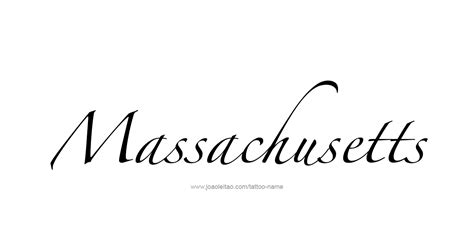 massachusetts usa state name tattoo designs page 3 of 5