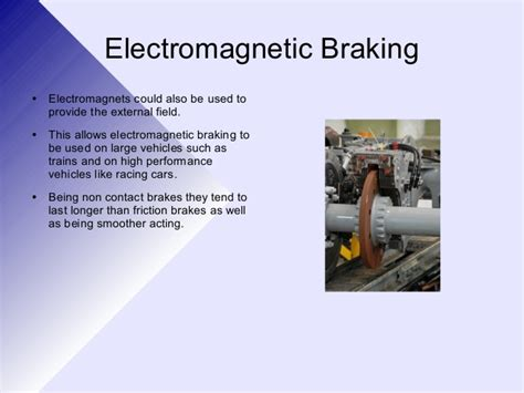 Electromagnetic Braking System In Ppt 3 2 1 Electomagnetic Induction